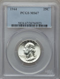 Washington Quarters: , 1944 25C MS67 PCGS. PCGS Population (58/0). NGC Census: (258/0).Mintage: 104,956,000. Numismedia Wsl. Price for problem fr...