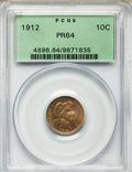Proof Barber Dimes: , 1912 10C PR64 PCGS. PCGS Population (70/57). NGC Census: (52/66).Mintage: 700. Numismedia Wsl. Price for problem free NGC/...