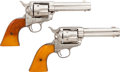 Handguns:Single Action Revolver, Cased Pair of First Generation Colt Single Action Army Revolvers.... (Total: 2 Items)