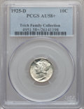 Mercury Dimes: , 1925-D 10C AU58+ Full Bands PCGS. PCGS Population (0/268). NGCCensus: (13/142). Mintage: 5,117,000. . From The TeichFam...