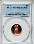 Proof Lincoln Cents, 1997-S 1C PR70 Red Deep Cameo PCGS. PCGS Population (102). NGCCensus: (82). Numismedia Wsl. Price for problem free NGC/PC...