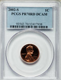 Proof Lincoln Cents, 2002-S 1C PR70 Red Deep Cameo PCGS. PCGS Population (173). NGCCensus: (400). Numismedia Wsl. Price for problem free NGC/P...