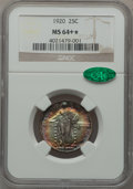 Standing Liberty Quarters: , 1920 25C MS64+ ★ NGC. CAC. NGC Census: (361/265). PCGS Population(481/276). Mintage: 27,860,...