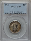 Standing Liberty Quarters: , 1921 25C XF40 PCGS. PCGS Population (50/675). NGC Census: (26/472).Mintage: 1,916,000. Numismedia Wsl. Price for problem f...