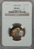 Standing Liberty Quarters: , 1924-D 25C MS66 ★ NGC. NGC Census: (248/37). PCGS Population(91/6). Mintage: 3,112,000. Numi...