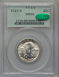 Standing Liberty Quarters: , 1926-S 25C MS65 PCGS. CAC. PCGS Population (62/18). NGC Census:(27/12). Mintage: 2,700,000. Numismedia Wsl. Price for prob...