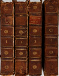 Books:Literature Pre-1900, Joseph Addison. The Works. Vol. I-IV. London: Printed forJacob Tonson, at Shakespear's-Head, over-against Katha... (Total: 4Items)