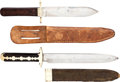 Edged Weapons:Knives, Lot of Two Assorted Antique English Bowie Knives with Scabbards. ... (Total: 2 Items)