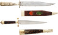 Edged Weapons:Knives, Lot of Two Assorted Antique English Bowie Knives with Scabbards....(Total: 2 Items)