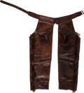 Western Expansion, Rare Pair of Antique Western Shotgun Chaps by Heiser, Denver,Colorado. ...