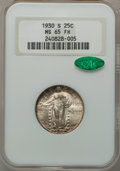 Standing Liberty Quarters: , 1930-S 25C MS65 Full Head NGC. CAC. NGC Census: (125/112). PCGSPopulation (159/103). Mintage: 1,556,000. Numismedia Wsl. P...