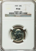 Proof Washington Quarters: , 1937 25C PR66 NGC. NGC Census: (259/107). PCGS Population (344/87).Mintage: 5,542. Numismedia Wsl. Price for problem free ...