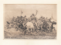 "William Trego: ""The Pell Mell Charge"" Print"