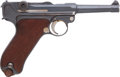Handguns:Semiautomatic Pistol, German DWM Model P08 1921 Naval Marked Luger Semi-AutomaticPistol....