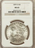 Morgan Dollars: , 1899-O $1 MS65 NGC. NGC Census: (7412/1186). PCGS Population(7255/1304). Mintage: 12,290,000. Numismedia Wsl. Price for pr...