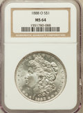 Morgan Dollars: , 1888-O $1 MS64 NGC. NGC Census: (9162/1373). PCGS Population(6951/1985). Mintage: 12,150,000. Numismedia Wsl. Price for pr...