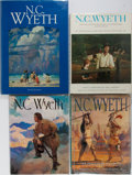 Books:Art & Architecture, N. C. Wyeth [subject]. Group of Four Books. Various publishers. Publisher's binding and djs. Very good or better condition.... (Total: 4 Items)