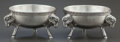 Silver Holloware, American:Open Salts, A PAIR OF GEORGE SHARP SILVER FIGURAL OPEN SALTS . George B. Sharp,Philadelphia, Pennsylvania, circa 1900. Marks: (lion pas... (Total:2 )