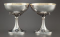 Silver Holloware, Continental:Holloware, A PAIR OF ITALIAN SILVER AND SILVER GILT SORBET STEMS . Makerunidentified, Italy, circa 1975. Marks: 1 AL (partiallyef... (Total: 2 Items)