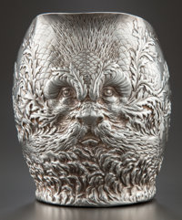 A GORHAM SILVER REPOUSSÉ WATER PITCHER Gorham Manufacturing Co., Providence, Rhode Island, circa 1887 Marks: (