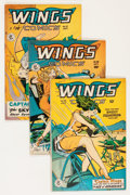 Golden Age (1938-1955):War, Wings Comics Group (Fiction House, 1947-54) Condition: AverageFN.... (Total: 12 Comic Books)