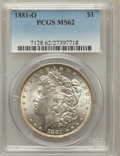Morgan Dollars: , 1881-O $1 MS62 PCGS. PCGS Population (2869/10017). NGC Census:(1788/10535). Mintage: 5,708,000. Numismedia Wsl. Price for ...