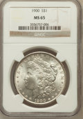 Morgan Dollars: , 1900 $1 MS65 NGC. NGC Census: (4312/601). PCGS Population(3514/597). Mintage: 8,830,912. Numismedia Wsl. Price forproblem...
