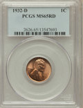Lincoln Cents: , 1932-D 1C MS65 Red PCGS. PCGS Population (440/200). NGC Census:(110/94). Mintage: 10,500,000. Numismedia Wsl. Price for pr...