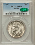 Commemorative Silver: , 1937 50C Boone MS66 PCGS. CAC. PCGS Population (392/82). NGCCensus: (261/53). Mintage: 9,810. Numismedia Wsl. Price for pr...