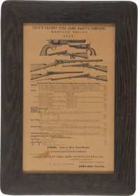 Framed Reproduction Colt Patent Fire Arms Reduced Prices 1859 Advertisement