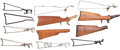 Arms Accessories, Lot of Twelve Assorted Skeleton & Wood Shoulder Stocks.... (Total: 12 Items)