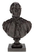Bronze:European, A BRONZE PORTRAIT BUST, AFTER JEAN-ANTOINE HOUDON: JOHN PAULJONES . Jean-Antoine Houdon, (French, 1741-1828). Marks...(Total: 2 Items)