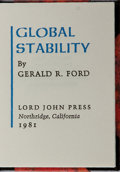 Books:Biography & Memoir, [Miniature Book]. Gerald Ford. SIGNED/LIMITED. GlobalStability. Lord John Press, 1981. First edition, firstprintin...