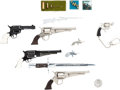 Handguns:Muzzle loading, Lot of Nine Assorted Miniature Firearms, Bayonets andAmmunition.... (Total: 12 Items)