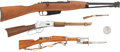 Long Guns:Bolt Action, Lot of Four Assorted Miniature Rifles and Carbines.... (Total: 4Items)