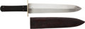 Edged Weapons:Knives, Large Antique English Spearpoint Bowie Knife by John Pound & Co....