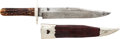 Edged Weapons:Knives, Large Antique English Clip-Point Bowie Knife by George Wostenholm & Son, Sheffield....
