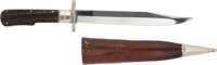 Folding Bowie Knife by C. Schlieper Solingen with Leather Scabbard