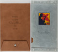 """Books:Biography & Memoir, [Jazz Age Journals]. Group of Two Reproduction Journals Publishedby Chronicle Books. Part of their """"Aerobleu"""" line. 1997. P...(Total: 2 Items)"""