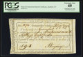 Colonial Notes:Connecticut, Connecticut Interest Certificate February 17, 1792 PCGS ExtremelyFine 40.. ...