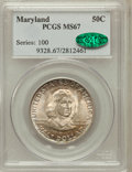 Commemorative Silver, 1934 50C Maryland MS67 PCGS. CAC....