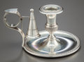 Silver Holloware, Continental:Holloware, A CONTINENTAL SILVER CHAMBERSTICK . Maker unidentified, circa 1920.Marks: 800, 176 F. 3 inches high x 6 inches wide (7....