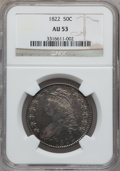 Bust Half Dollars: , 1822 50C AU53 NGC. NGC Census: (33/518). PCGS Population (56/364).Mintage: 1,559,573. Numismedia Wsl. Price for problem fr...