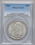 Bust Half Dollars: , 1822 50C AU50 PCGS. PCGS Population (72/420). NGC Census: (30/551).Mintage: 1,559,573. Numismedia Wsl. Price for problem f...