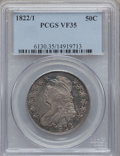 Bust Half Dollars: , 1822/1 50C VF35 PCGS. PCGS Population (6/89). NGC Census: (4/79).Numismedia Wsl. Price for problem free NGC/PCGS coin in ...