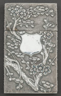 Silver Smalls:Other , A CHINESE EXPORT SILVER CARD CASE . Possibly Hone Wo, Hong Kong,China, circa 1875. Marks: (partially effaced marks). 3-1/4 ...