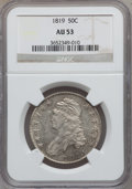 Bust Half Dollars: , 1819 50C AU53 NGC. NGC Census: (29/248). PCGS Population (35/158).Mintage: 2,208,000. Numismedia Wsl. Price for problem fr...