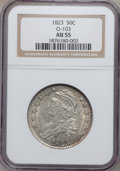 Bust Half Dollars, 1823 50C O-103 AU55 NGC. NGC Census: (81/351). PCGS Population(100/290). Mintage: 1,694,200. Numismedia Wsl. Price for pro...