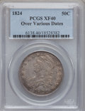 Bust Half Dollars, 1824 50C Over Various Dates XF40 PCGS. PCGS Population (13/94). NGCCensus: (5/63). Numismedia Wsl. Price for problem free...