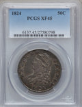 Bust Half Dollars: , 1824 50C XF45 PCGS. PCGS Population (127/584). NGC Census:(94/630). Mintage: 3,504,954. Numismedia Wsl. Price for problem ...